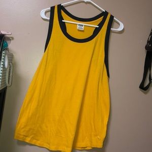 VS Pink Yellow Tank Top